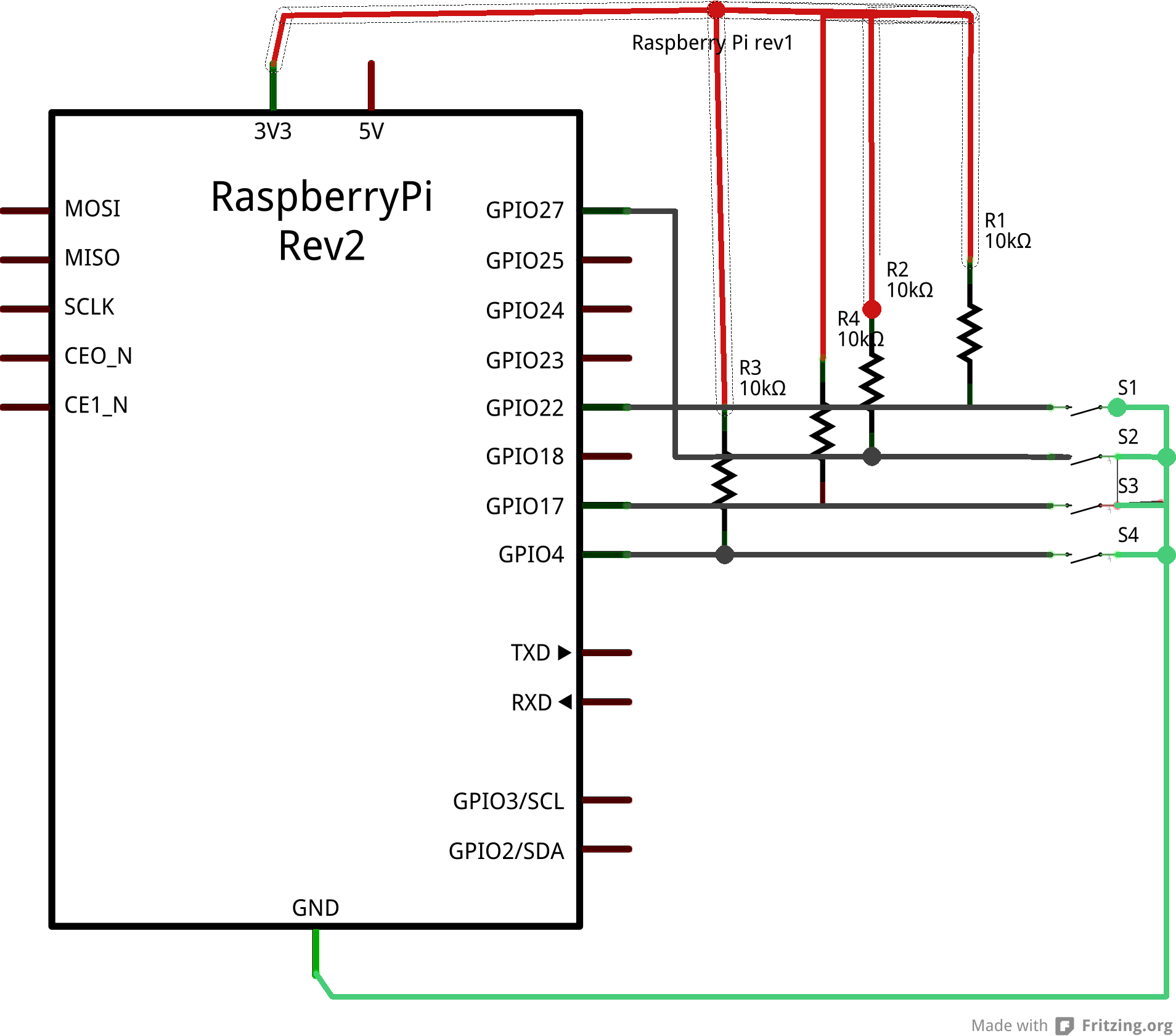 Raspberry Pi Circuit Diagram